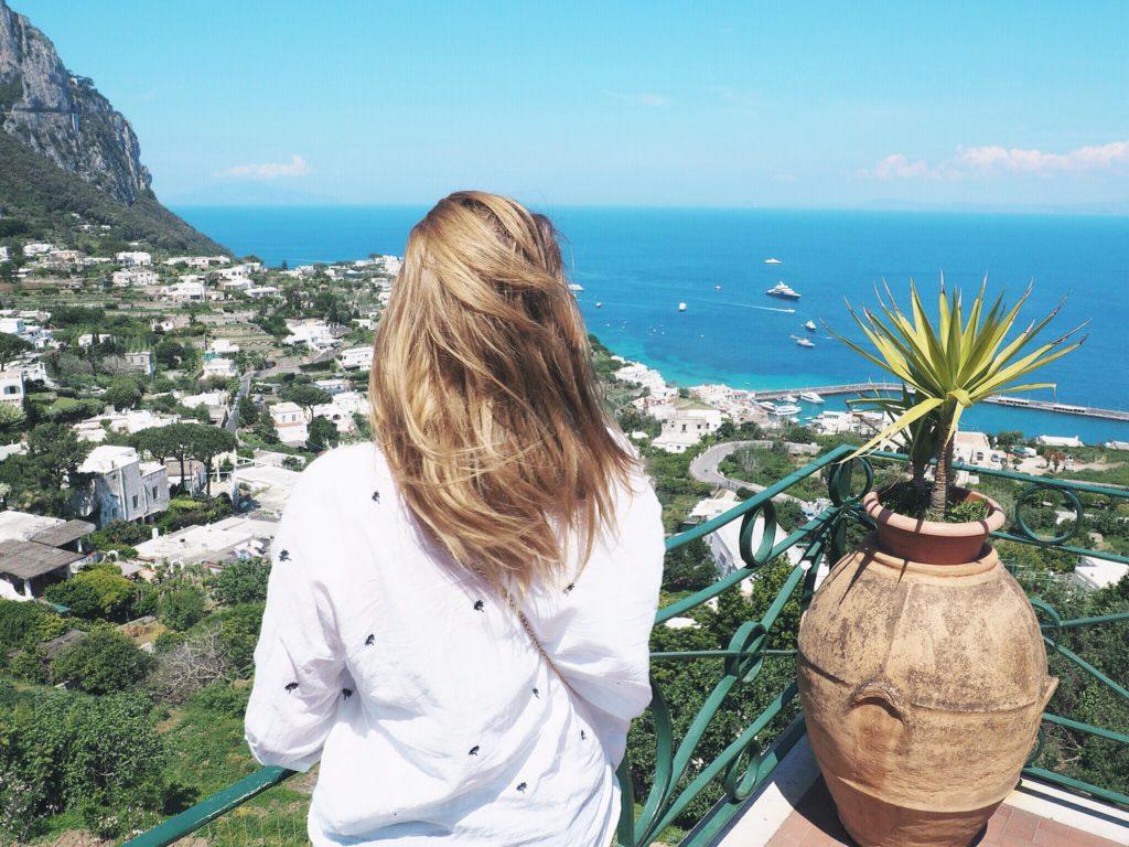 AIDA Urlaub Blick über Capri